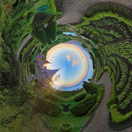 phon: Landscape of pagoda in doi inthanon national park, Chiang mai Thailand Stock Photo