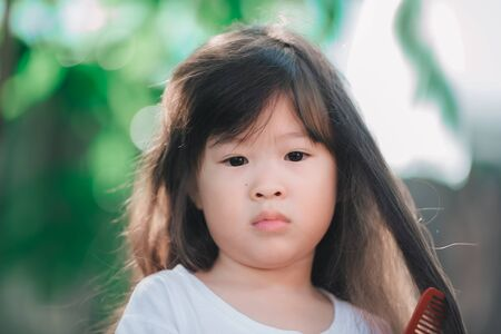 portrait of asian little girl Standard-Bild