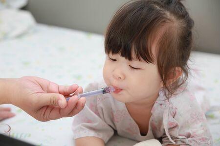 Sick girl in the hospital