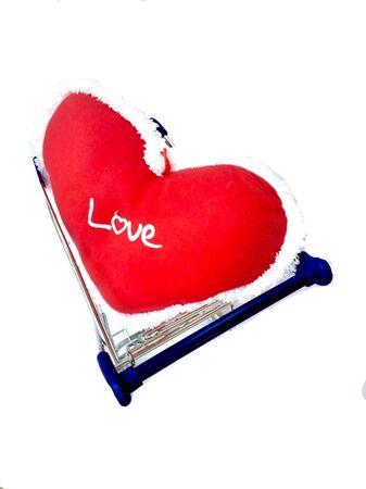 garment: Heart shape pillow in shopping cart