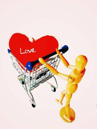 colour: Heart shape pillow in shopping cart