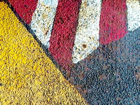 metallic: Hazard stripes background