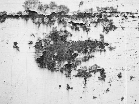 black white red: Rusty wall  Stock Photo