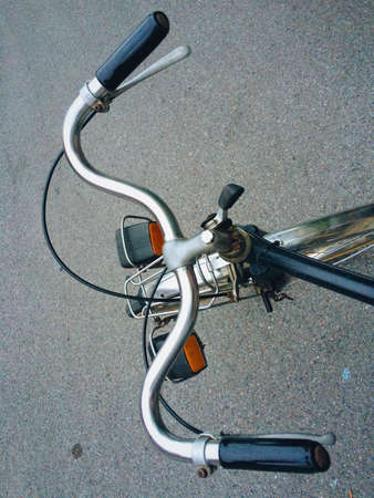 industrial: Old bicycle, vintage bike