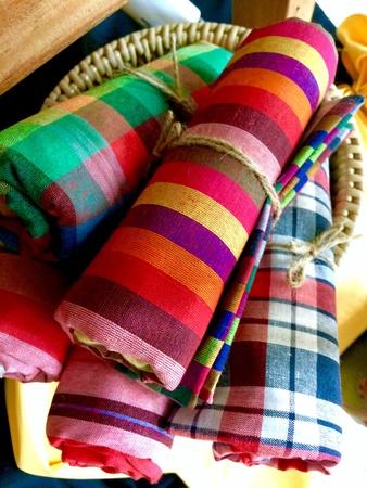 industrieel: Kleurrijke stof, decoratiion, kleding, kledingstuk.