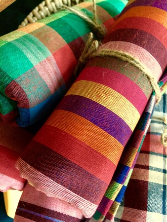 industrial: Colorful fabric, decoratiion, clothes, garment.