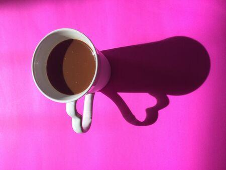 shadow: Cup of coffee, shadow Stock Photo
