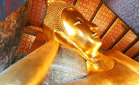 wat pho: Buddha Image Wat Pho Stock Photo