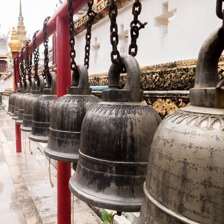 lined: Old Bell sort lined in temple