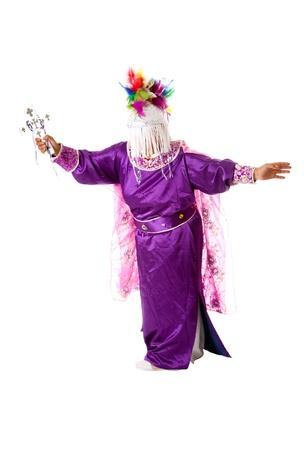 exorcism: Hispanic religious catholic christian folklore dance resembling god doing an exorcism, isolated.