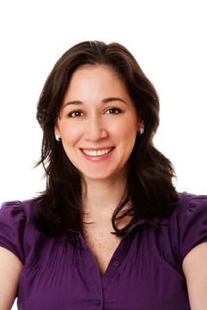 행복 한 미소 기업 비즈니스 여자, 격리의 아름 다운 얼굴. 스톡 콘텐츠