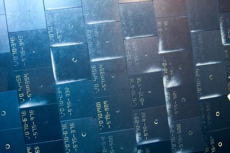 silica: Materiale sistema di protezione termica rinforzata carbonio-carbonio e LI-900 ceramiche silice utilizzati sui veicoli spaziali per la protezione contro il calore, mentre rientrando nell'atmosfera. Editoriali