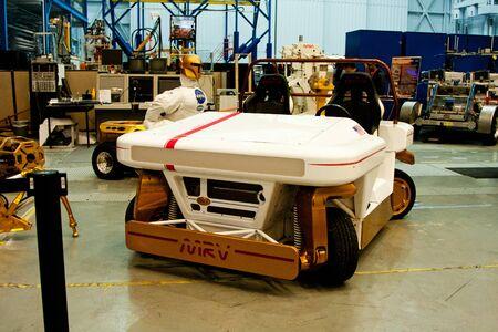 prototype: Houston, TX, USA - Jan. 23 2015: Prototype MRV Mars Rover Vehicle at NASA Johnson Space center mockup facility in Houston, TX.