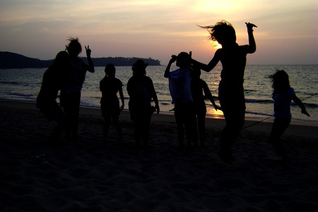dance on the beach                             photo
