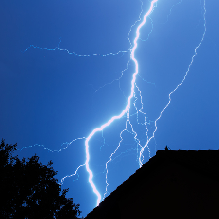 Lightning in the city photo
