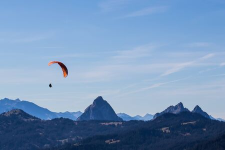 Paragliding in the mountains photo