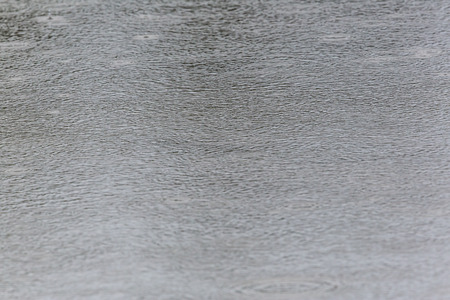 Rain drops on a water surface