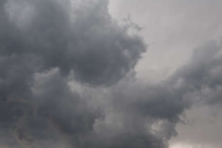 windstorm: Dark clouds on a rainy day in summer