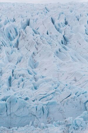 close-up surface structure of Vatnajokull glacier, Iceland