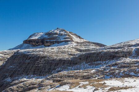 snowcapped Piz Boe mountain summit