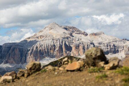 Piz Boe mountain summit Imagens - 131232757