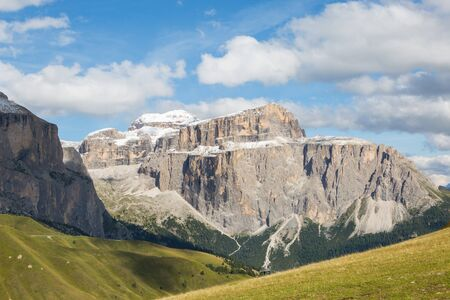 Sella mountain group in Dolomites Imagens