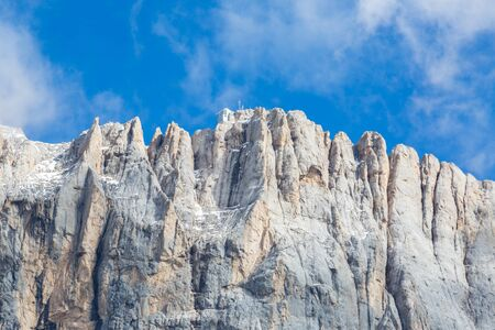 southern wall of UNESCO world heritage Marmolada mountain, Dolomites