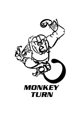 turn of the year: The Year of Monkey, Monkey Turn, Monkey Creating by Letters