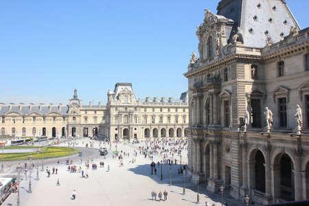 louvre: Outside Louvre Museum