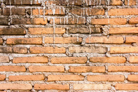 poorly: Poorly bricks wall construction texture background
