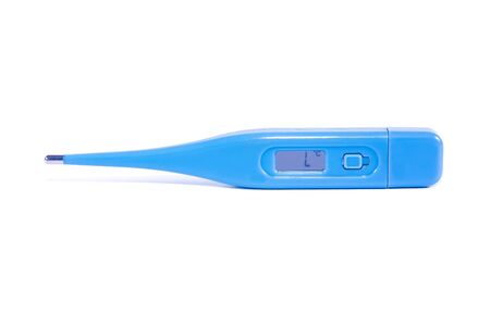 kelvin: A digital thermometer isolated on white background Stock Photo