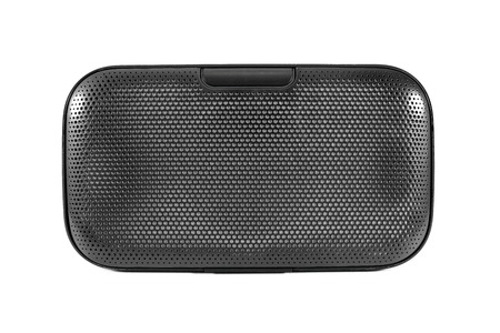 Front of bluetooth speaker isolated on white background