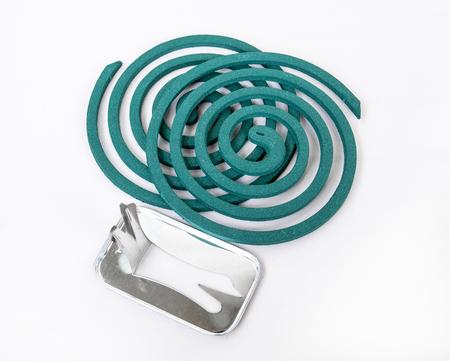 spirale: Moskito Spule mit Metall stand.Mosquito abweisende Spule