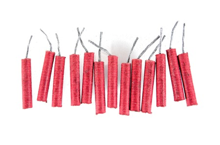 Firecrackers isolated on white background.Firecrackers