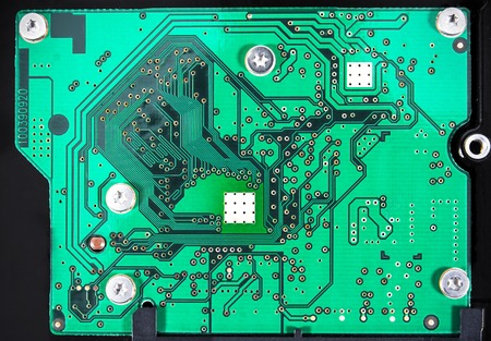 integrated circuit: Integrated Circuit on binary background, IC chip board. IC background