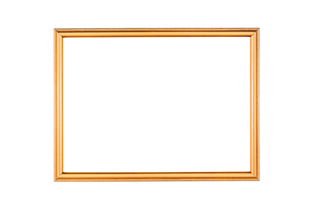 Antique gold frame isolated on the white background.Gold frame isolated.Golden frame isolated Stock Photo