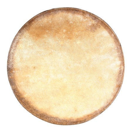 bongos: Drum leather isolated on white background. Drum head isolated Stock Photo