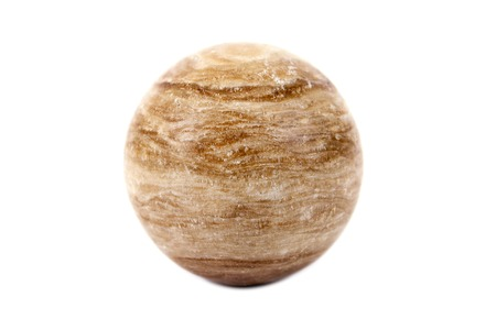 primary colours: Brightly brown color marble ball  isolated on white background.Marble ball isolated Stock Photo