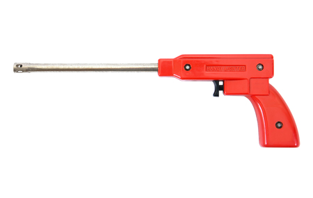 gas lighter: Gas lighter gun for gas stove and gas kitchen on white background.Gas lighter isolated Stock Photo