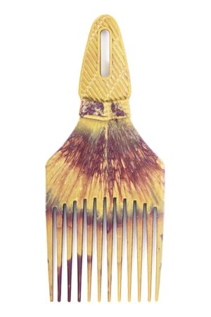 barber: Comb.Plastic comb isolated on white background.Plastic hair comb in brush shape style isolated on white