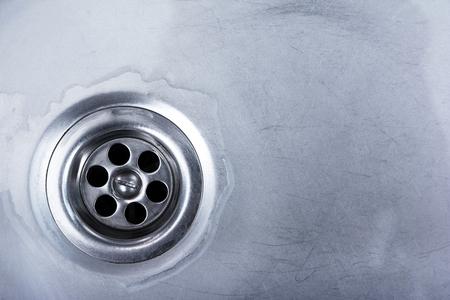 water draining in washbasin