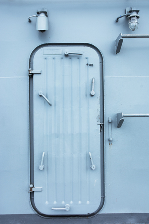 down lights: Battleship entrance door with door lock