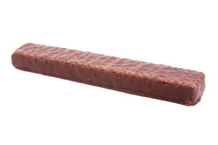 chocolate waffles isolated on white background