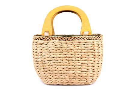 Water hyacinth handbag isolated on white background