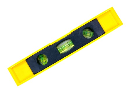 Water level tool isolated on white background.Tubular spirit level isolated.Bubble water level isolated Stock Photo