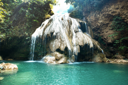 Koh Luang waterfall in Lamphun province,Thailand