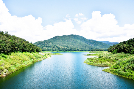 Beautiful Mae kuang Udom Thara dam background in Chiang mai,Thailand