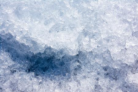 Fondo de textura de hielo picado. Superficie de textura de cristales de hielo