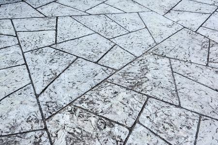 Fondo de textura de piso de concreto de geometría. Superficie de patrón de geometría de piso de concreto