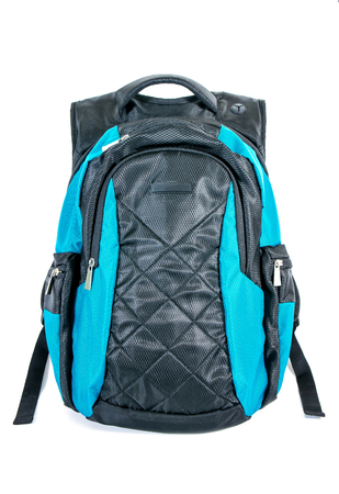 Backpack isolated on white background. Modern backpack for laptop isolated